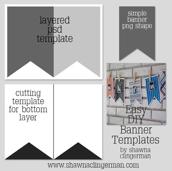 free easy diy banner templates shawna clingerman designs. Black Bedroom Furniture Sets. Home Design Ideas