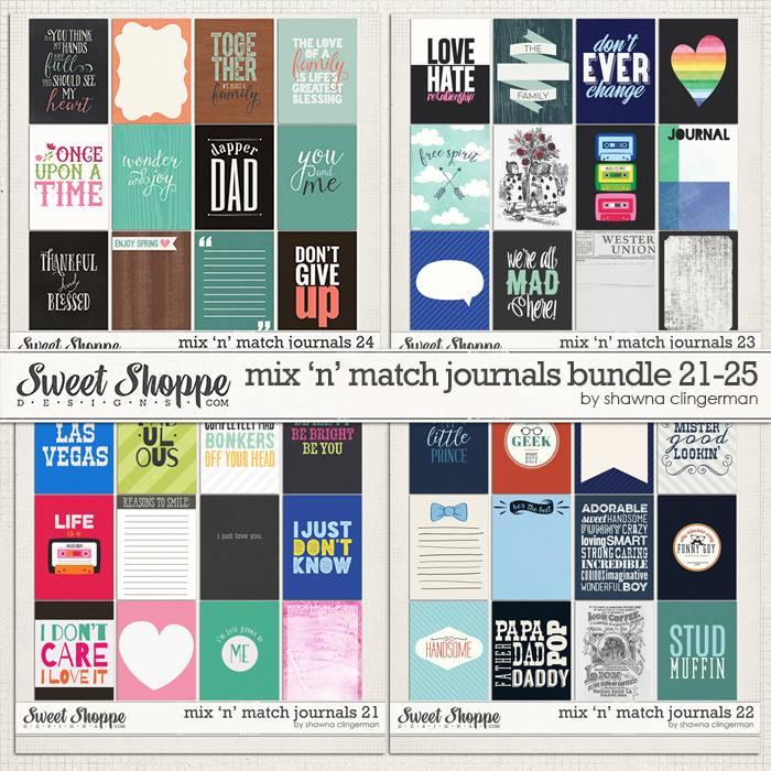 mix n match journal cards